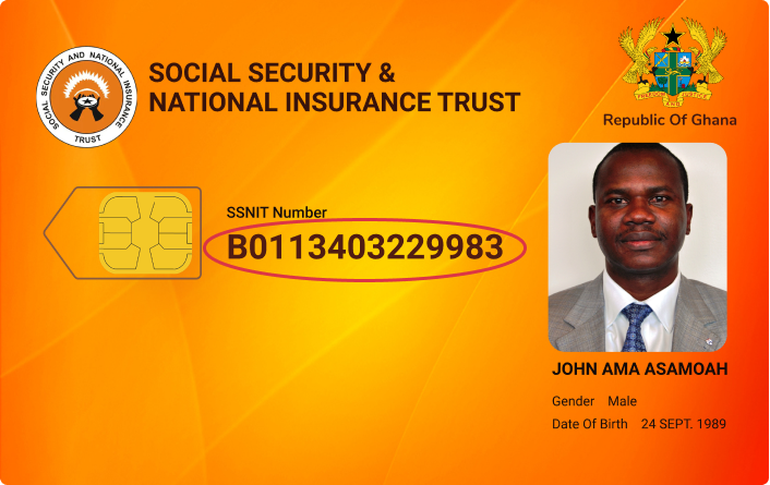 Ghana SSNIT Supported ID Cards