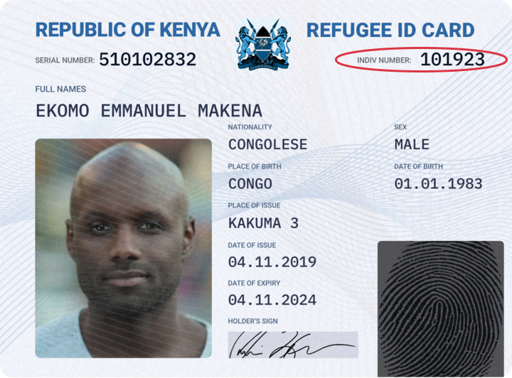 Kenya Refugee ID Supported ID Cards