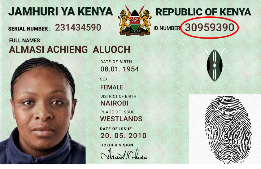 kenyaNationalID circle Supported ID Cards