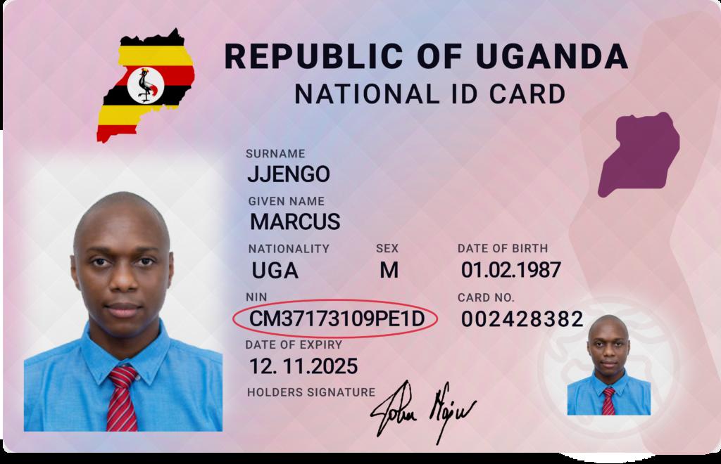 UG NATIONAL ID Supported ID Cards